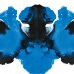 Blue and black Rorschach visual