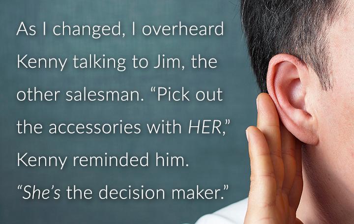 Man overhearing a secret